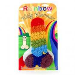Rainbow Knitted Willy Warmer